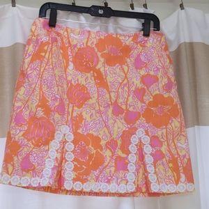 "Lilly Pulitzer Originals ""hen house"" print skirt"